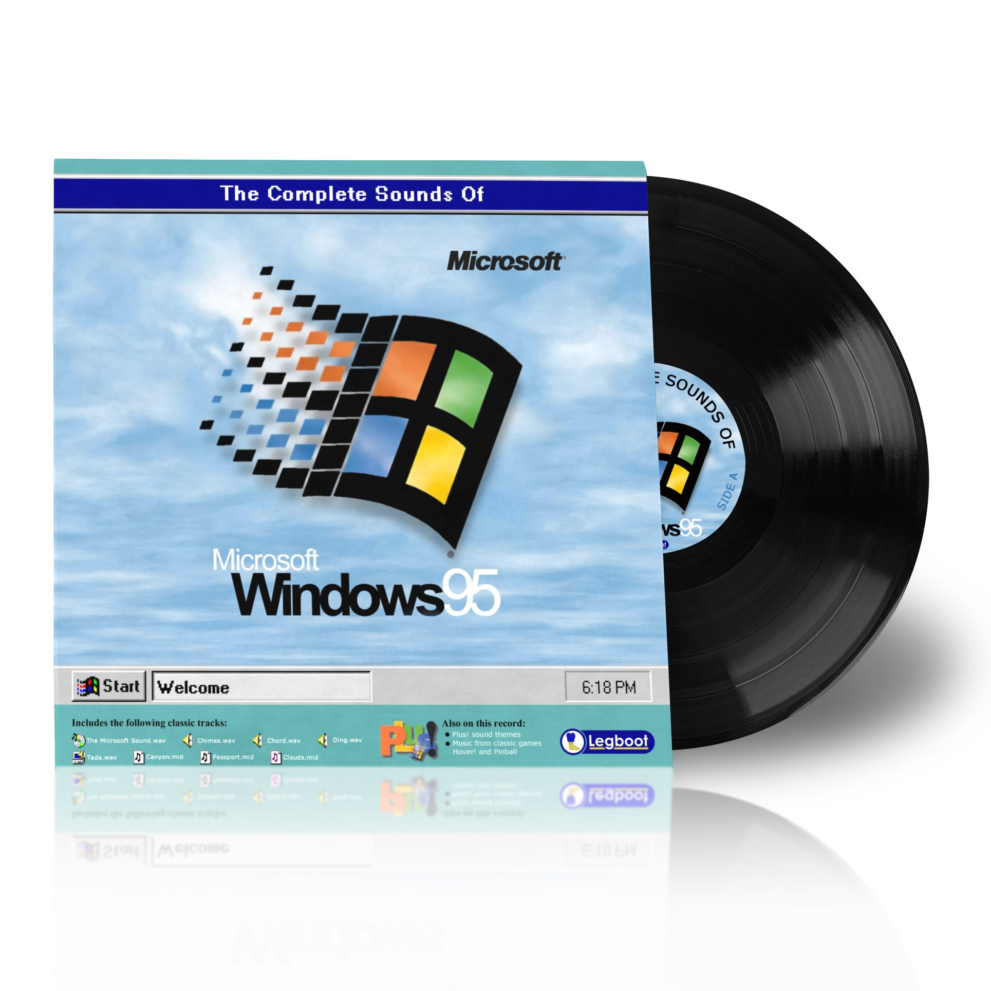 The Complete Sounds of Windows 95 Vinyl Record