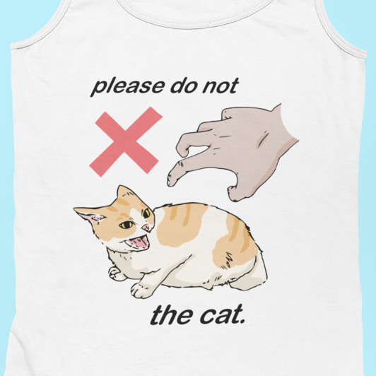 Please Do Not The Cat Tank Top