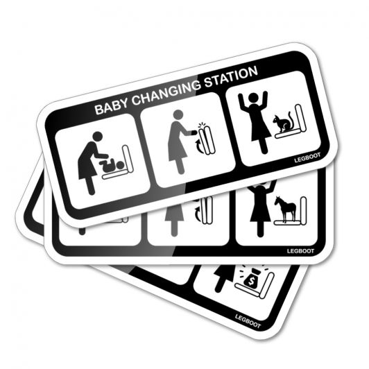 Baby Changing Station Stickers